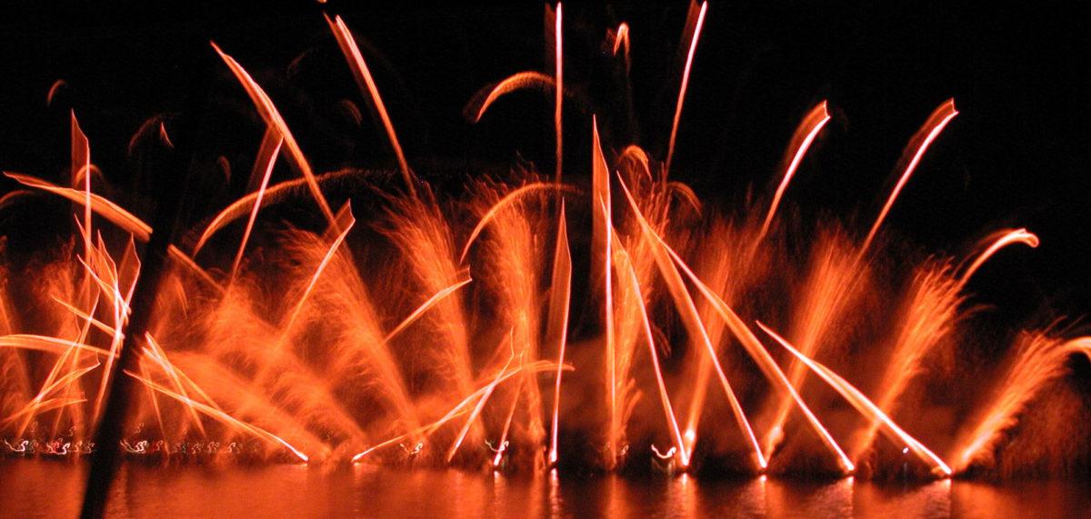 Feuerwerk quer