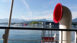Schiffrestaurant Wilhelm Tell, Sicht zum KKL